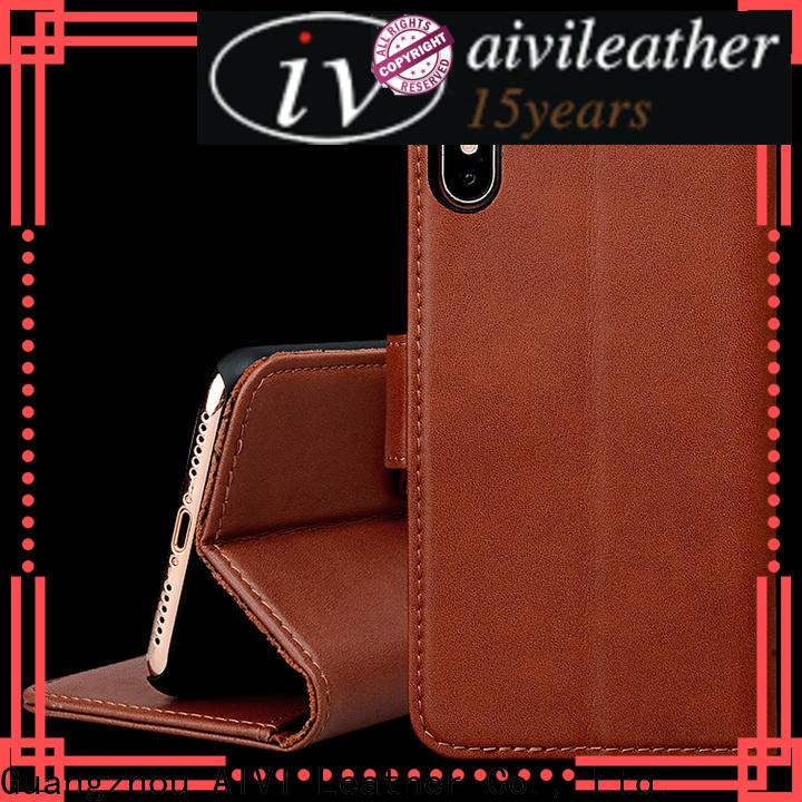 AIVI leather mobile phone covers for iphone XS