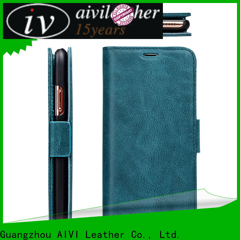 AIVI personalized mens leather phone case online for iphone XS