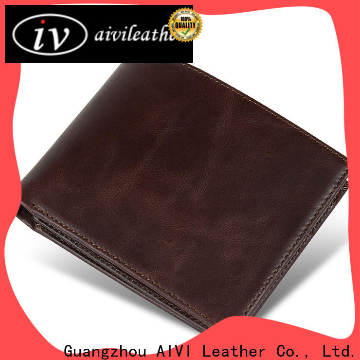 AIVI custom leather wallets Manufacturer for travel