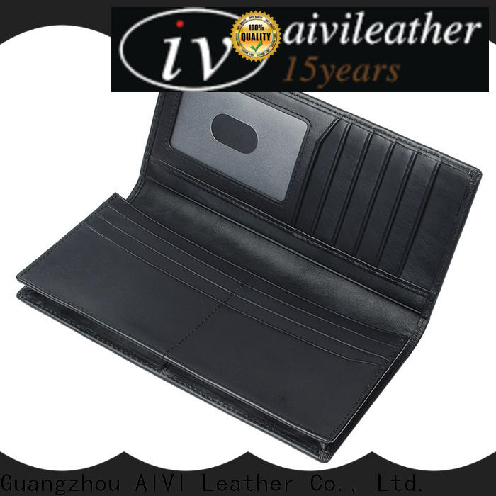 AIVI slim leather travel wallet for sale for men