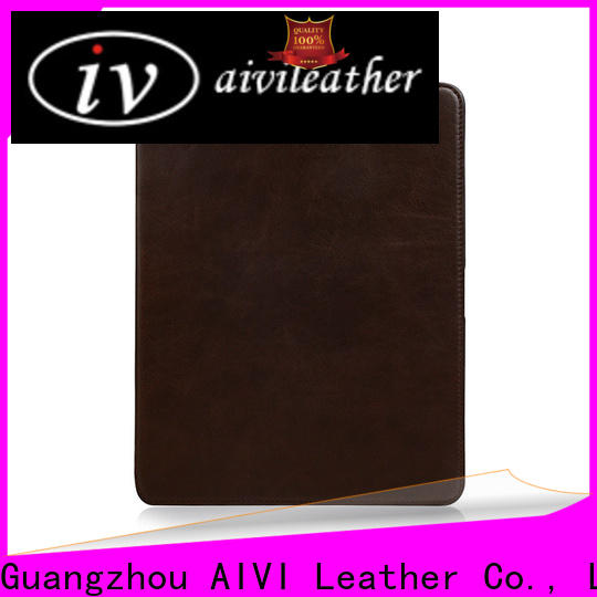 AIVI customized genuine leather ipad cover manufacturer for IPad
