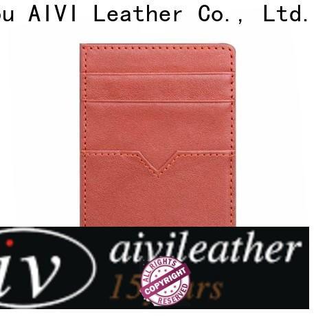 slim leather credit card case manufacturer for iphone XR