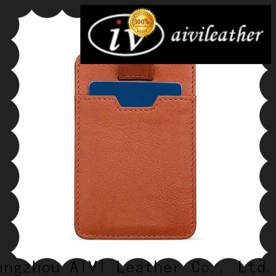 fashion leather card holder wallet mens manufacturer for ipone 6/6plus