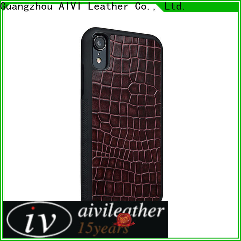 AIVI personalized iphone leather phone case for iphone X