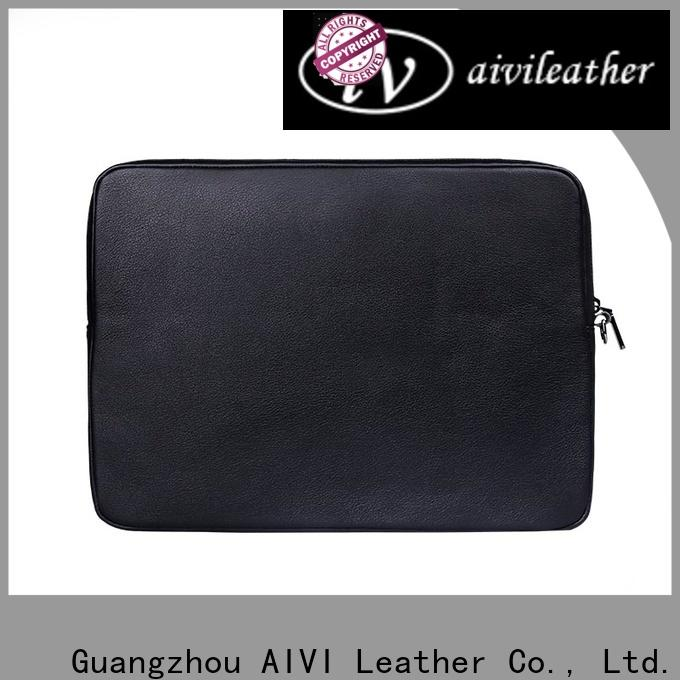 AIVI brown leather laptop case for computer