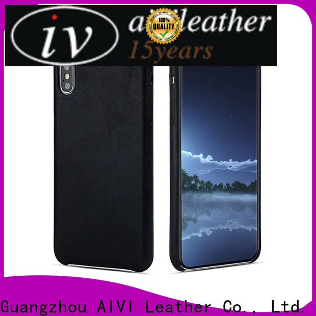 AIVI waterproof leather wallet phone case accessories for iphone X