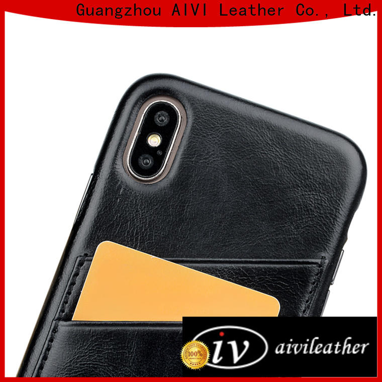AIVI customized leather iphone case and wallet manufacturer for iphone 7/7 plus