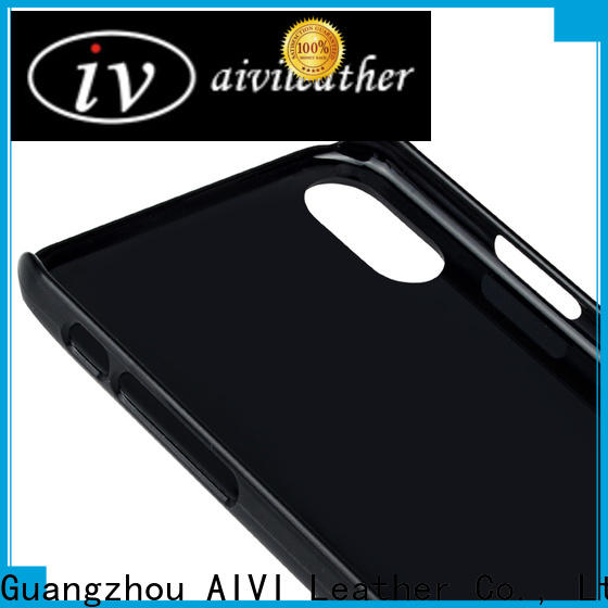 AIVI back quality leather phone cases manufacturer for iphone XR
