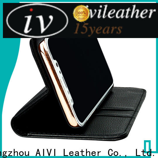 AIVI cases quality leather iphone case supply for iphone XS