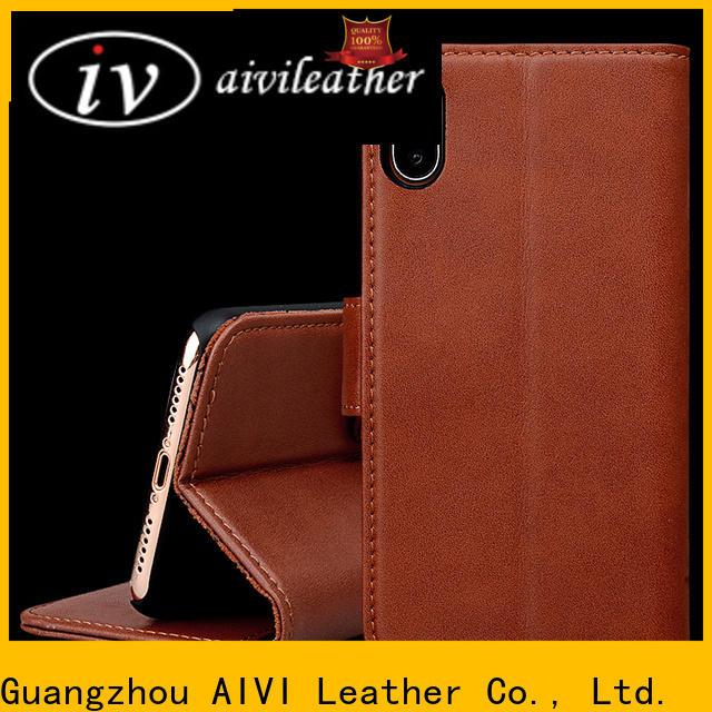 AIVI flip slim leather iphone case accessories for iphone 8 / 8plus
