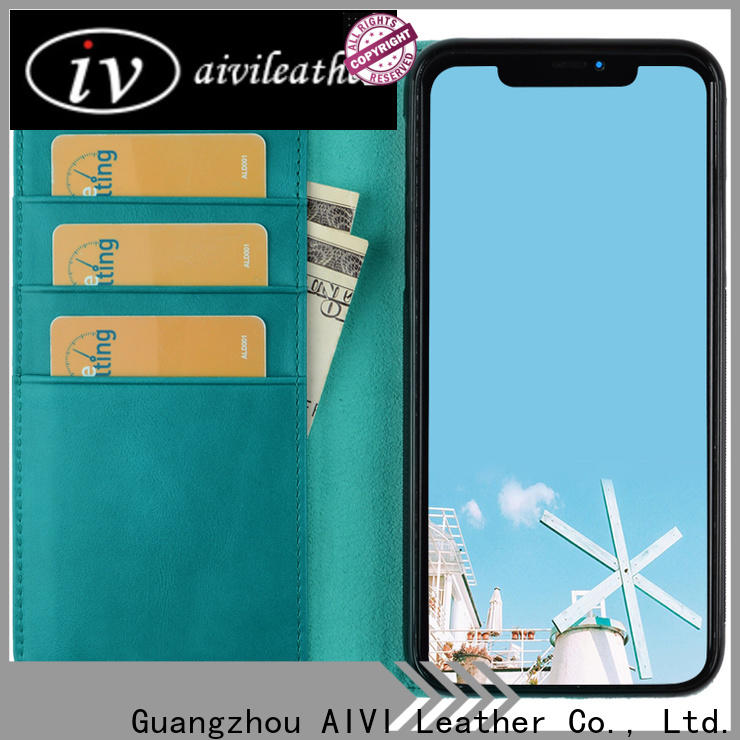 AIVI unisex leather card holder wallet mens factory for iphone 7/7 plus