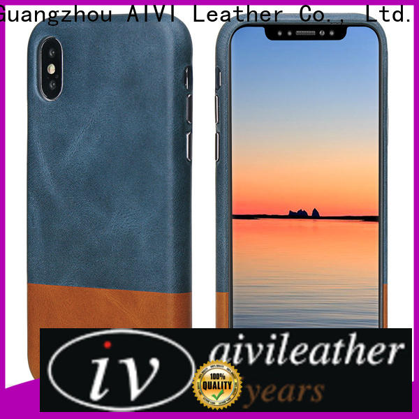 AIVI beautiful apple brown leather case for iPhone X/XS for iphone 7/7 plus