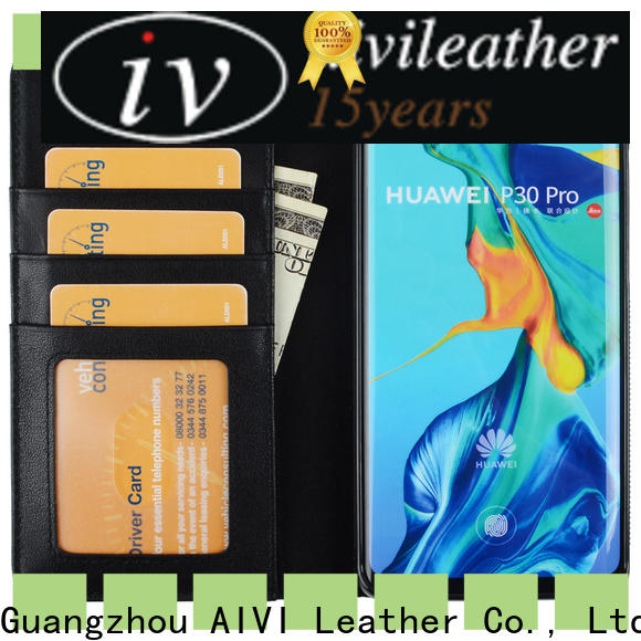 fashion leather phone cases supply for HUAWEI P30