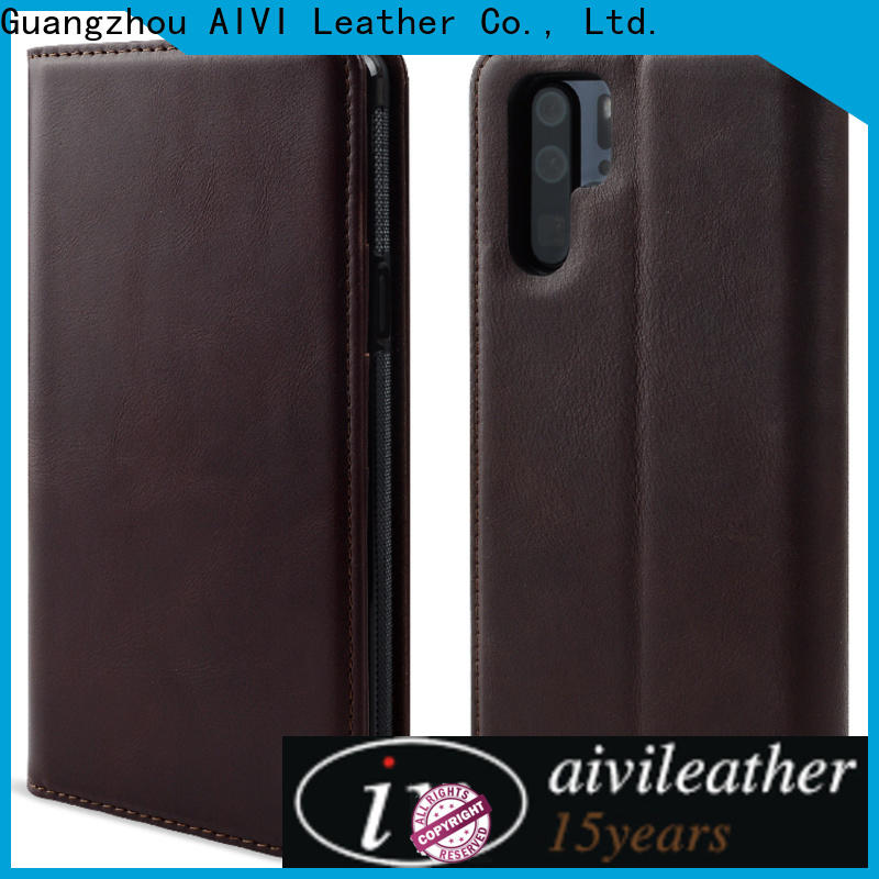 AIVI handcraft leather phone cases factory for HUAWEI P30
