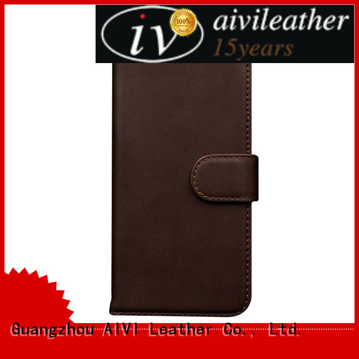 AIVI convenient iphone 7 plus leather cover high quilty for phone XS Max