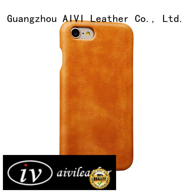 AIVI personalized iphone 8 plus leather case high quilty for iphone X