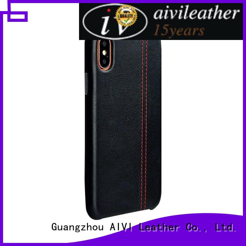 apple original leather case flip for iphone 7/7 plus AIVI