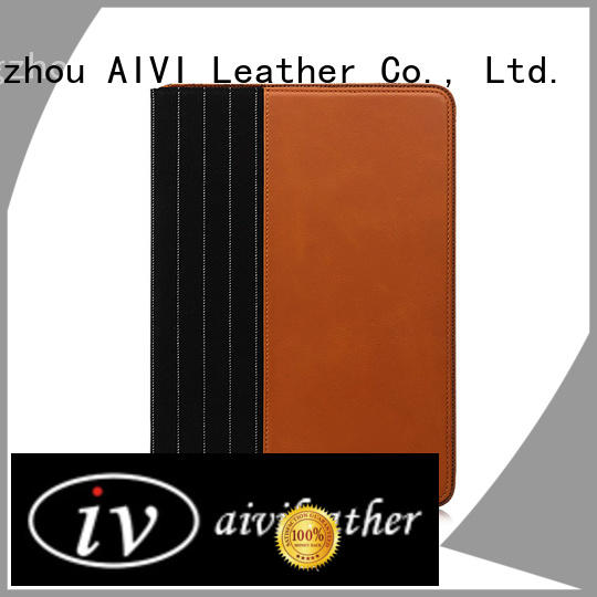 handcraft genuine leather ipad cover factory for laptop