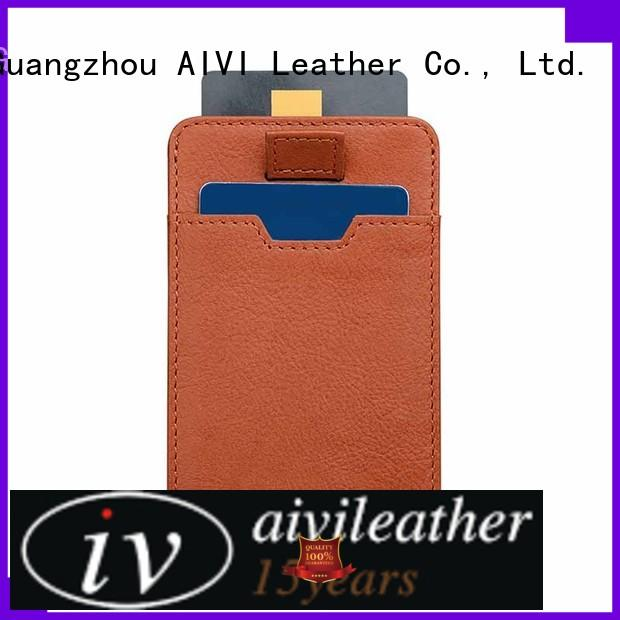 AIVI durable leather card holder wallet manufacturer for phone XS Max
