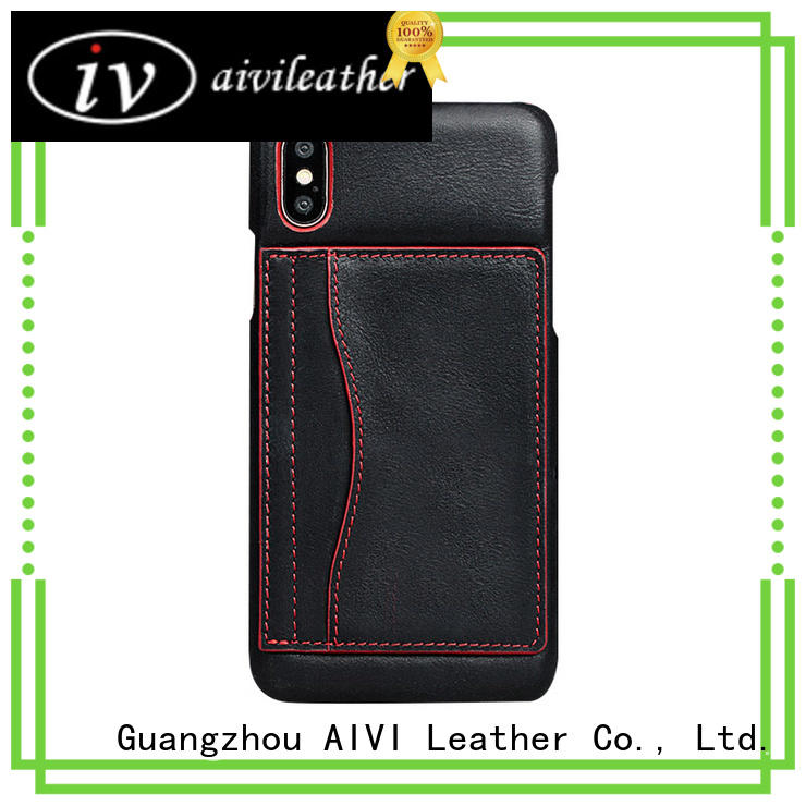 AIVI cover fine leather phone cases factory for iphone 8 / 8plus