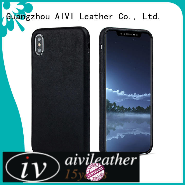 fashionable custom leather iphone case for iPhone XS Max for iphone XS Max AIVI