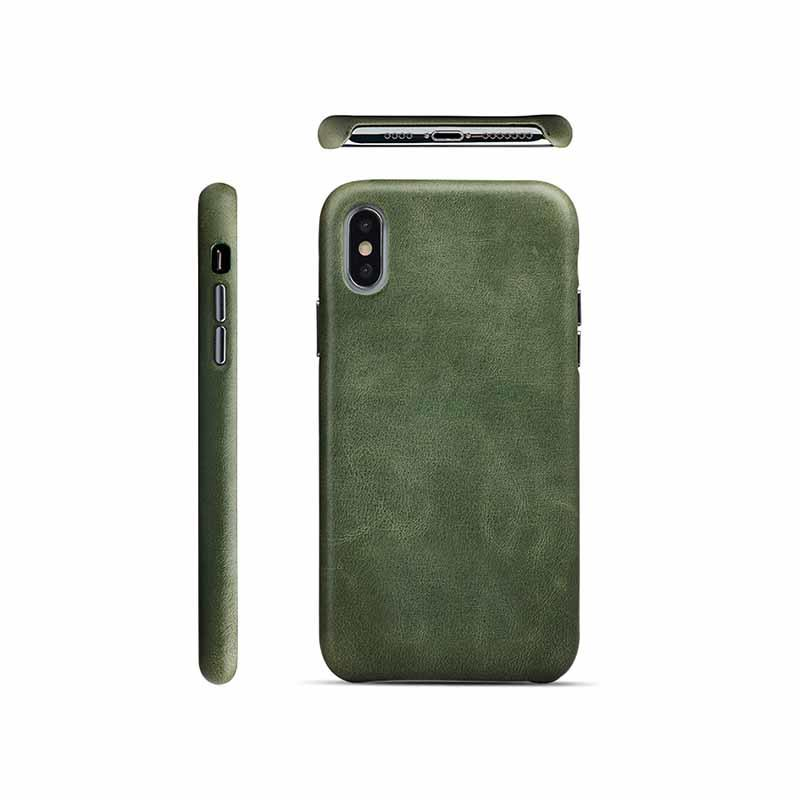 AIVI brown green leather iphone case protector for iphone XS Max-1