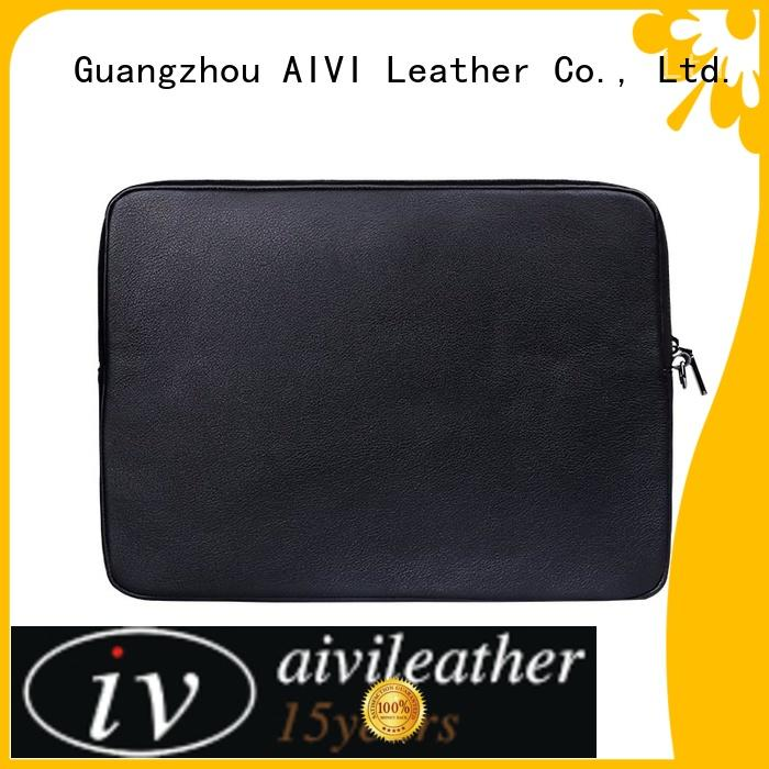 AIVI comfortable laptop leather case easy to carry for travel