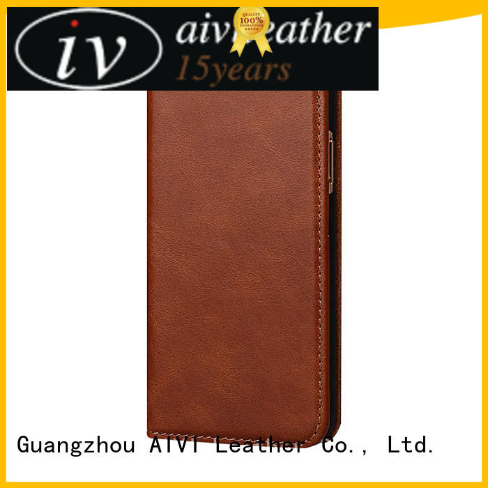 wrapped apple brown leather case design for ipone 6/6plus AIVI
