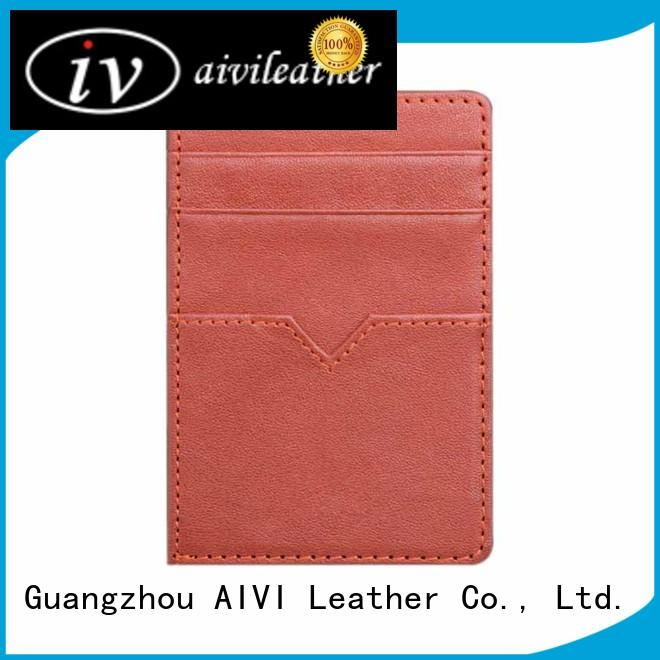 slim mens leather credit card wallet for sale ipone 6/6plus AIVI
