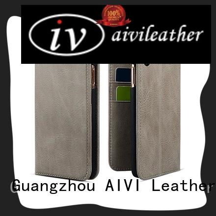 AIVI magnetic apple original leather case factory for iphone XS
