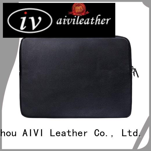 AIVI safe brown leather laptop case large capacity for laptop