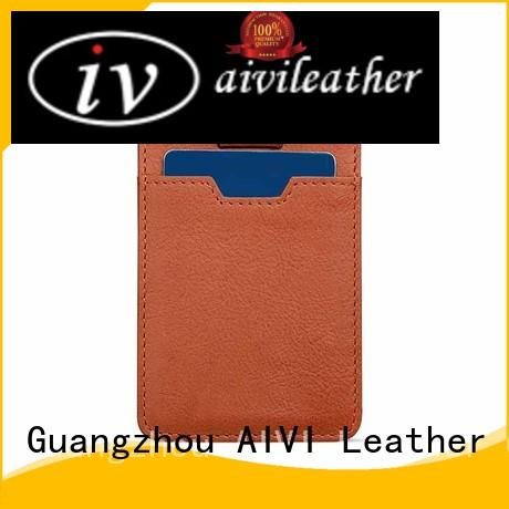 AIVI genuine leather card case wallet factory for iphone 7/7 plus