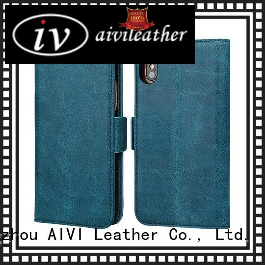AIVI genuine leather iphone wallet case online iphone X