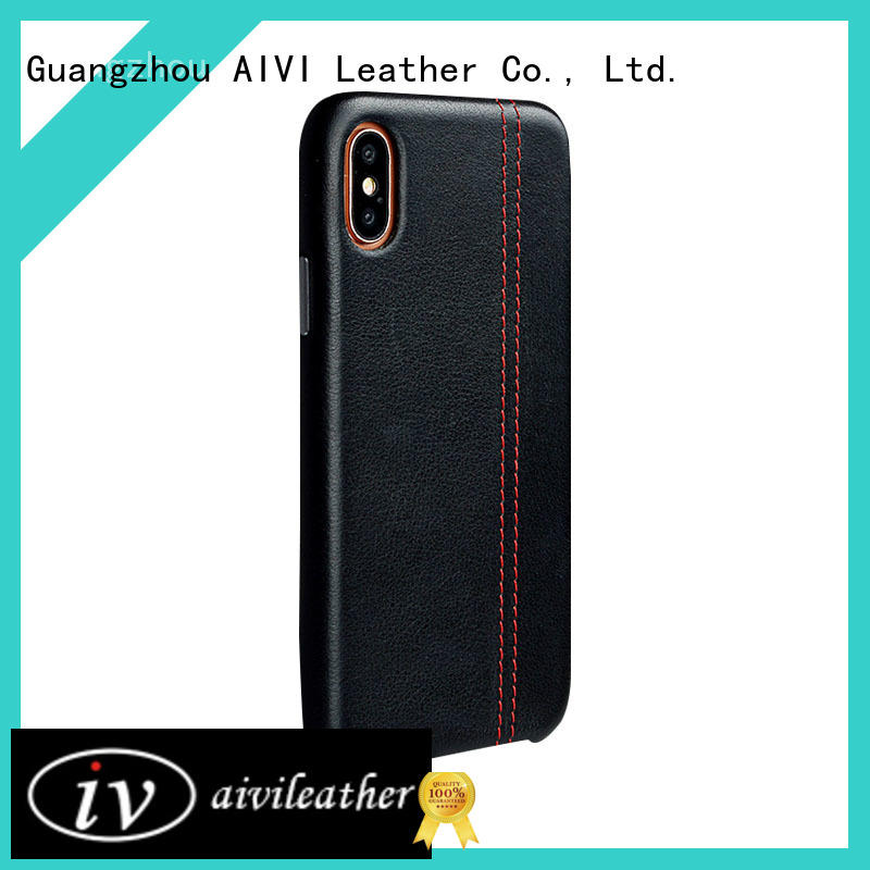 horse apple tan leather case factory for iphone X AIVI