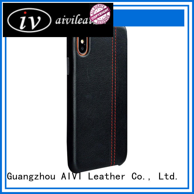 slot fine leather phone cases manufacturer ipone 6/6plus AIVI