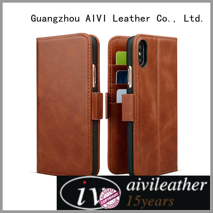 AIVI beautiful premium leather iphone case rugged ipone 6/6plus