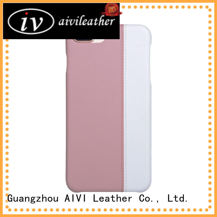 AIVI beautiful genuine leather iphone 7 case splicing for iphone XR