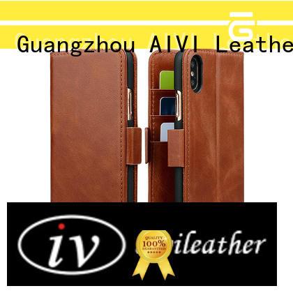 case premium leather iphone case smartphone for iphone 8 / 8plus AIVI