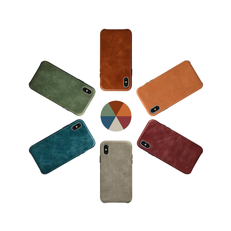 AIVI brown custom leather iphone case for iphone XS-3
