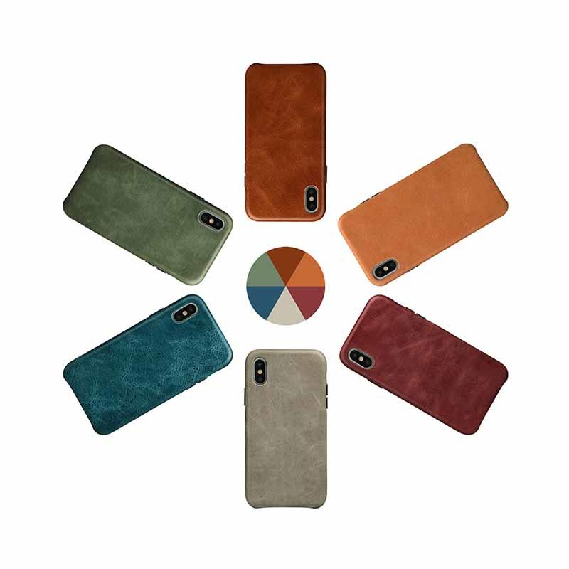 AIVI brown green leather iphone case protector for iphone XS Max-3