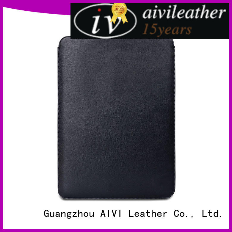 reliable leather computer carrying case large capacity for computer AIVI