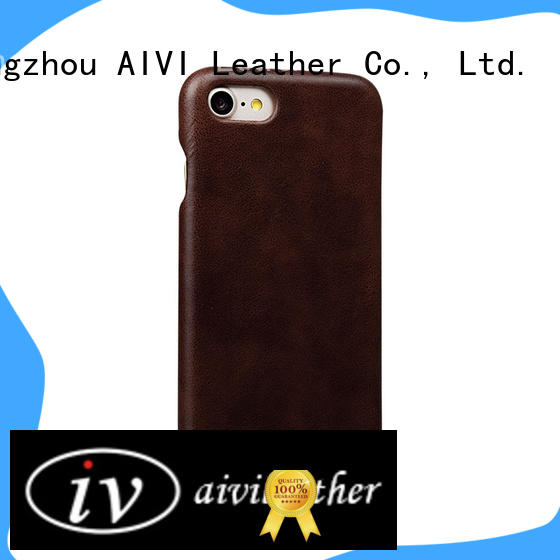 Premium Genuine Leather back For iphone 8 leather cover