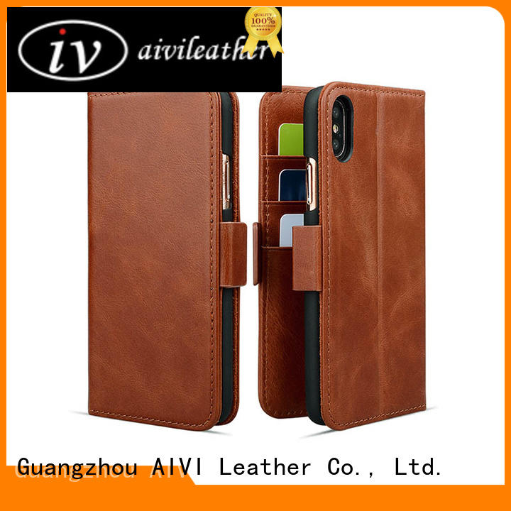 AIVI protective leather iphone wallet case for iphone XR