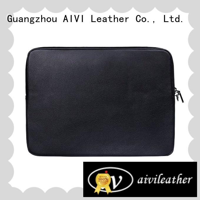 leather leather notebook case easy to carry for laptop AIVI