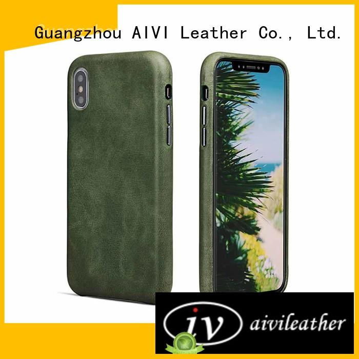 Durable For Iphone X Leather Case Fashionable Real Leather Phone Case