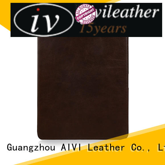 AIVI waterproof real leather ipad case factory for IPad