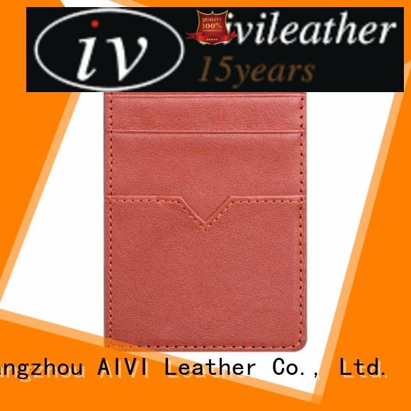 AIVI convenient leather credit card wallet for sale for ipone 6/6plus