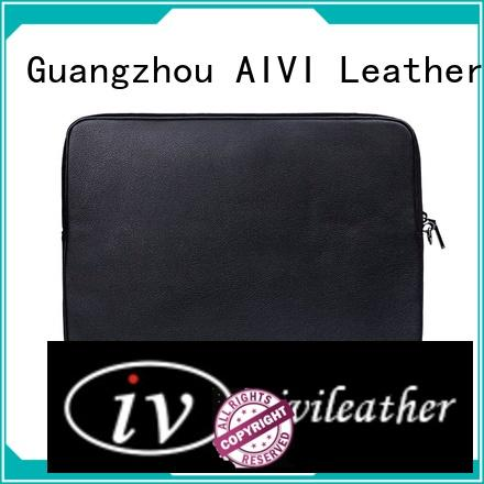 AIVI customized leather macbook case for travel