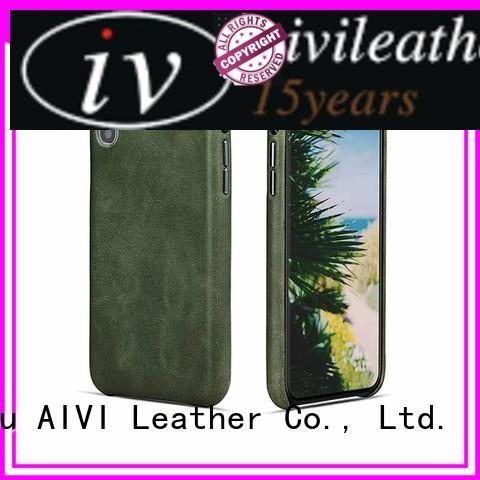 AIVI mobile black leather iphone case protector for ipone 6/6plus