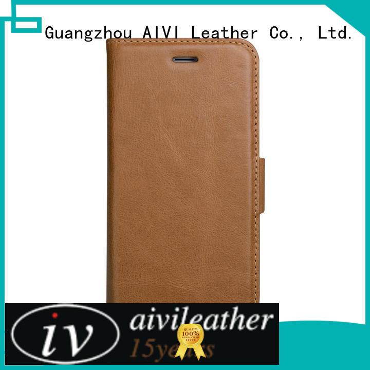 AIVI customized custom leather iphone 6 case genuine iphone XR